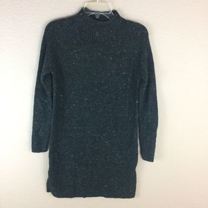 Madewell Speckled Mock Neck Long Sweater /tunic